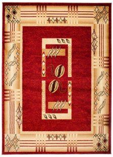 Dorian Tappeto Salotto Tradizionale Rosso Astratto Pelo Corto
