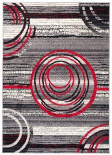 Dream Tappeto Grigio Rosso Astratto Geometrico A Pelo Corto