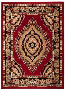 Atlas Tappeto Classico Rosso Ornamento Tradizionale
