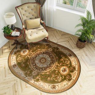Yesemek Tappeto Ovale Salotto Moderno Verde Crema Tradizionale Fiori