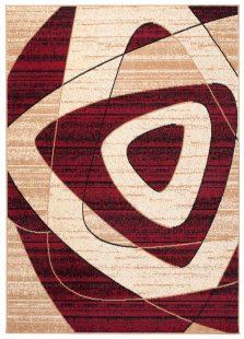 Dream Tappeto Rosso Beige Geometrico Quadrato A Pelo Corto