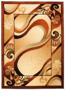 Dorian Tappeto Tradizionale Marrone Beige Geometrico Astratto