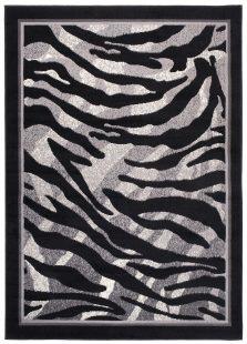 Dream Tappeto Grigio Nero Quadrato Geometrico Animali Zebrato