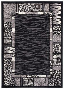 Dream Tappeto Moderno Nero Quadrato Geometrico Animali A Pelo Corto