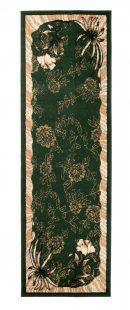 Atlas Tappeto Passatoia Classico Verde Disegno Floreale