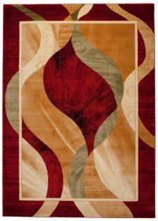 Dorian Tappeto Tradizionale Rosso Beige Geometrico Astratto