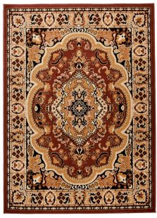 Atlas Tappeto Classico Marrone Tradizionale Ornamento