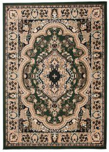 Atlas Tappeto Classico Verde Tradizionale Ornamento