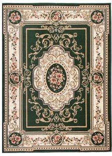 Atlas Tappeto Verde Ornamento Tradizionale A Pelo Corto