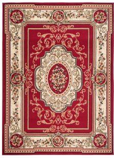 Atlas Tappeto Rosso Ornamento Tradizionale A Pelo Corto