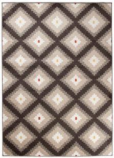 Maroko Tappeto Marrone Ecrù Geometrico A Pelo Corto