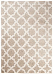 Maroko Tappeto Marocchino Beige Ecrù Mosaico A Pelo Corto