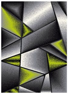 Sumatra Tappeto Moderno Geometrico Astratto Antracite Verde