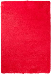 Silk Tappeto Moderno Shaggy Rosso Tinta Unita A Pelo Lungo