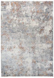 Feyruz Tappeto Salotto Moderno Grigio Cannella Blu Bianco Astratto