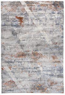 Feyruz Tappeto Salotto Moderno Blu Grigio Cannella Bianco Astratto