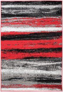 Maya Tappeto Moderno Rosso Antracite Astratto A Pelo Corto