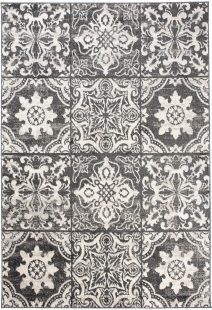 Ethno Tappeto Etnico Grigio Cream Orientale Mosaico