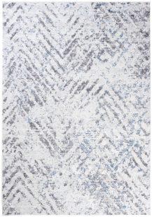 Sky Tappeto Vintage Puntinato Bianco Grigio Blu Astratto