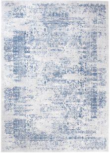 Sky Tappeto Vintage Puntinato Blu Bianco  Astratto Pelo Corto