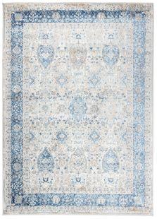 Valley Tappeto  Moderno Vintage White Blu Orientale Pelo Corto