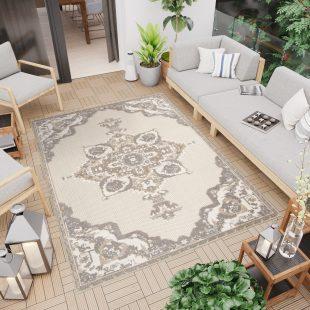 Patio Tappeto Indoor Outdoor  Beige Tradizionale A Pelo Corto