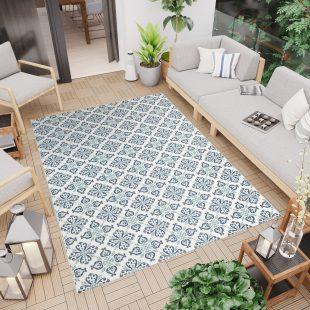 Jungle Tappeto Sisal Moderno Chiaro Geometrico Fiori