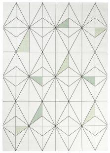 Jungle Tappeto Sisal Geometrico Moderno Bianco A Diamante