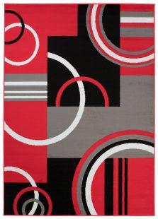 Maya Tappeto Rosso Geometrico Moderno Astratto A Pelo Corto