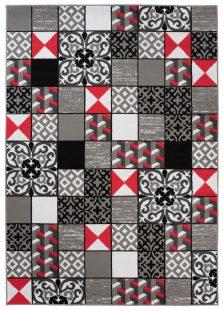 Maya Tappeto Moderno Grigio Geometrico A Quadretti A Pelo Corto