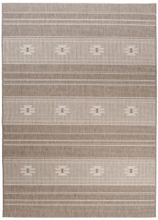 Floorlux Tappeto Sisal Taupe Geometrico Linee Indoor