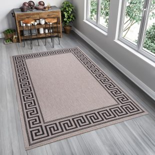 Floorlux Tappeto Sisal Argento Nero Geometrico Indoor