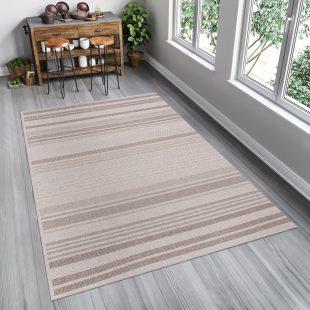 Floorlux Tappeto Sisal Chiaro Taupe Righe Indoor