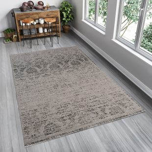 Floorlux Tappeto Sisal Argento Nero Chiaro Astratto Indoor