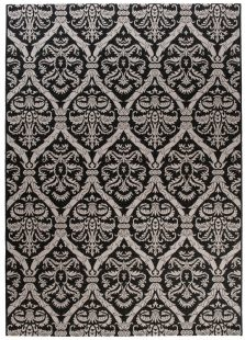 Floorlux Tappeto Sisal Nero Granite Argento Orientale Ornamentale