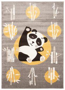 Fiesta Tappeto CamerettaFumo Giallo Panda Animale A Pelo Corto
