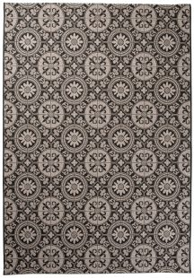 Floorlux Tappeto Sisal Nero Argento Orientale A Mosaico Classico