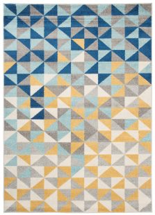 Lazur Tappeto Camera Ragazzi Multicolore Blu Arancione Astratto