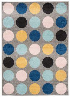 Lazur Tappeto Camera Ragazzi Multicolore Geometrico Pelo Corto