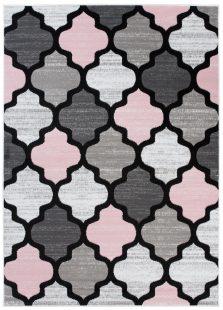 Pimky Tappeto Moderno Rosa Grigio Geometrico A Pelo Corto Mrobido